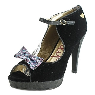 Lollipops poesy heel   Open-Toe Suede  Mary Janes