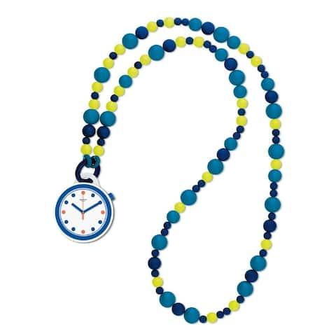 Swatch Women's PNW103N Two-Tone Plastic Watch - Blue