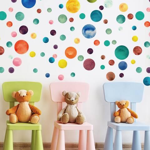 Walplus Polka Dots Wall Sticker Big Wall Home Decoration Nursery Decor