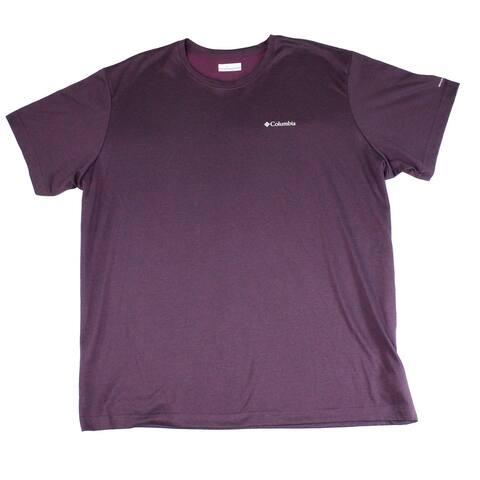Columbia Mens T-Shirt Purple Size XL Thistletown Ridge Crewneck Tee