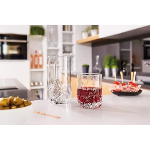 Luminarc 16 Piece Brighton Glass Tumbler Set