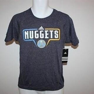 Denver Nuggets Youth Medium M 10-12 Nice Adidas Clima Lite Shirt