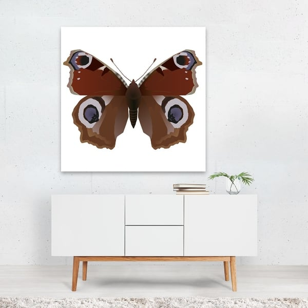 ANIMAL INSECT BUTTERFLY FLOWER YELLOW BLACK FRAMED ART PRINT PICTURE B12X4734