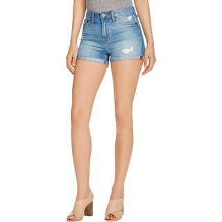 Jean Shop Womens Hannah Denim Shorts Denim Distressed