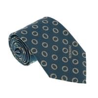 Missoni U5637 Green/Gold Geometric 100% Silk Tie - 60-3