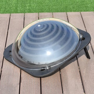 Costway Black Outdoor Solar Dome Inground &Above Ground Swimming Pool Water Heater