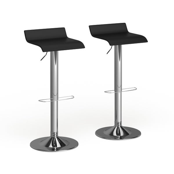 Porch & Den Blaine Chrome Air Lift Adjustable Swivel Stools (Set of 2). Opens flyout.