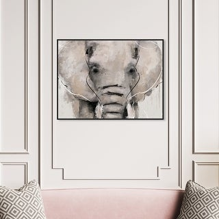 Lonely Elephant tree Abstract Home decor wall quality Canvas print art