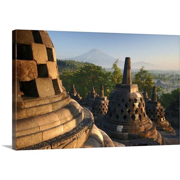 """Borobudur after sunrise"" Canvas Wall Art"