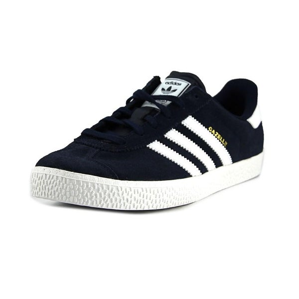 reputable site 8089f 79fc4 Adidas Gazelle 2 J Round Toe Canvas Sneakers