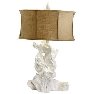 Cyan Design 04438 Driftwood 1 Light Table Lamp - White