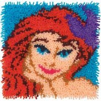 "Ariel - Disney Latch Hook Kit 12""X12"""