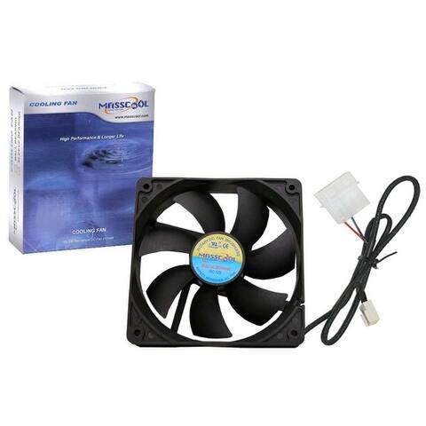 MASSCOOL FD12025B1L3/4 120 x 120 x 25mm Ball Bearing Cooling Fan - NEW