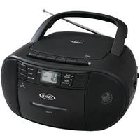 Jensen Cd-545 Portable Stereo Cd Player With Cassette Recorder & Am/Fm Radio