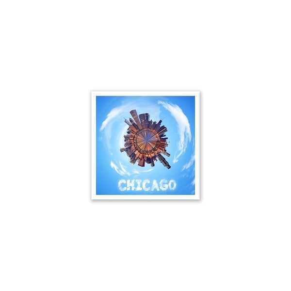 Chicago - City Planets - 12x12 Matte Poster Print Wall Art