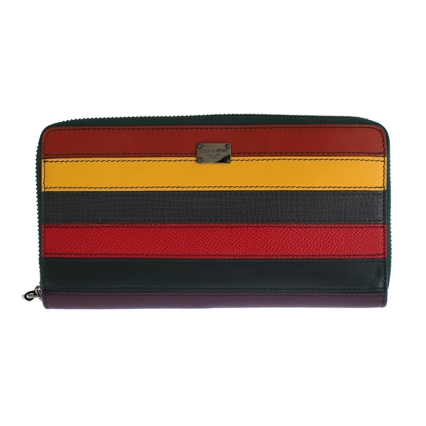 Dolce & Gabbana Multicolor Leather Continental Wallet - One size