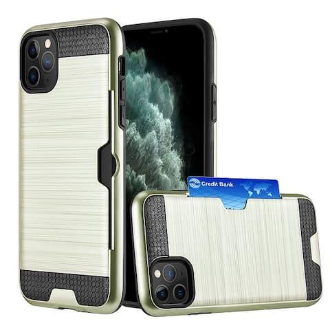 Hybrid Card Holder Wallet Case Back Cover for Apple iPhone 11 Pro