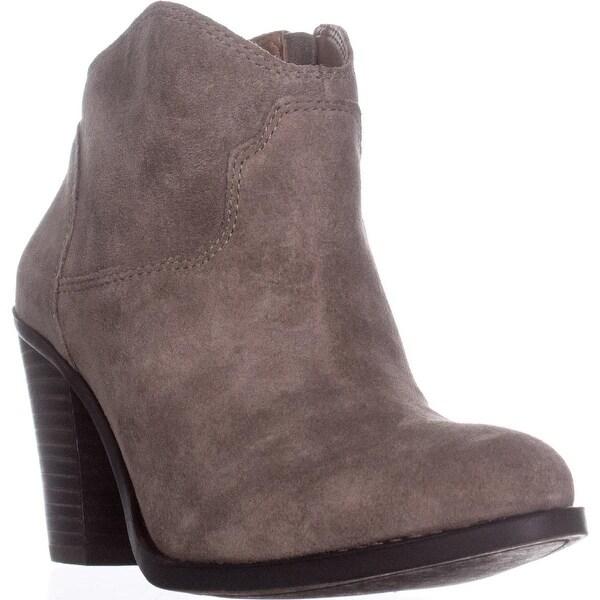 Lucky Brand Eller Short Western Boots, Brindle Leather - 9 us / 39 eu