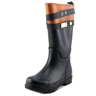 Tommy Hilfiger Marcie Youth Round Toe Synthetic Black Rain Boot