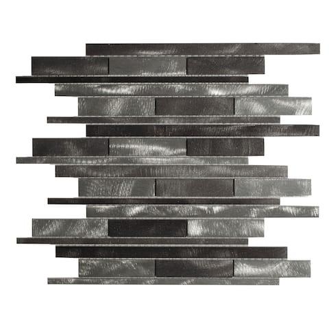 "The Tile Life Mason 1"" x 3"" Metal Mosaic Tile"