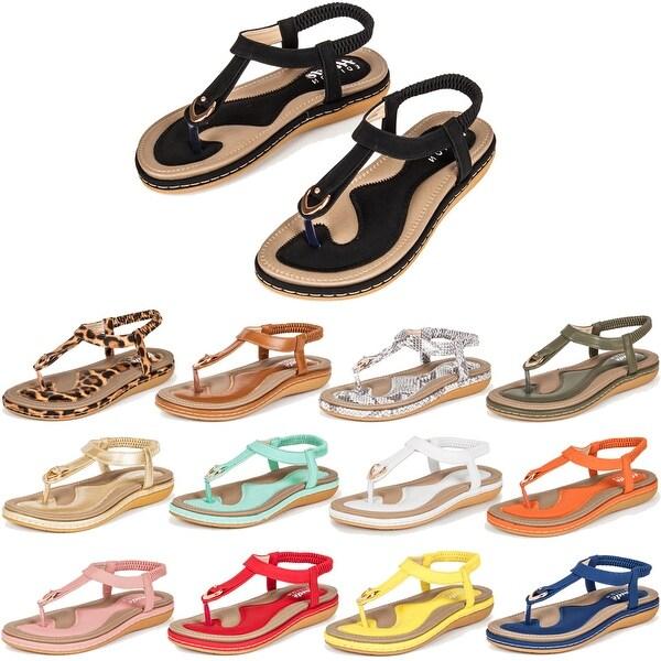Haute Edition Women's Classic Bohemian Comfort Sandals. Opens flyout.