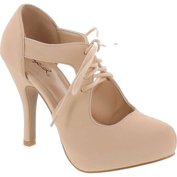 Qupid Women's Trench-233 Dress Pumps Shoes - Nude