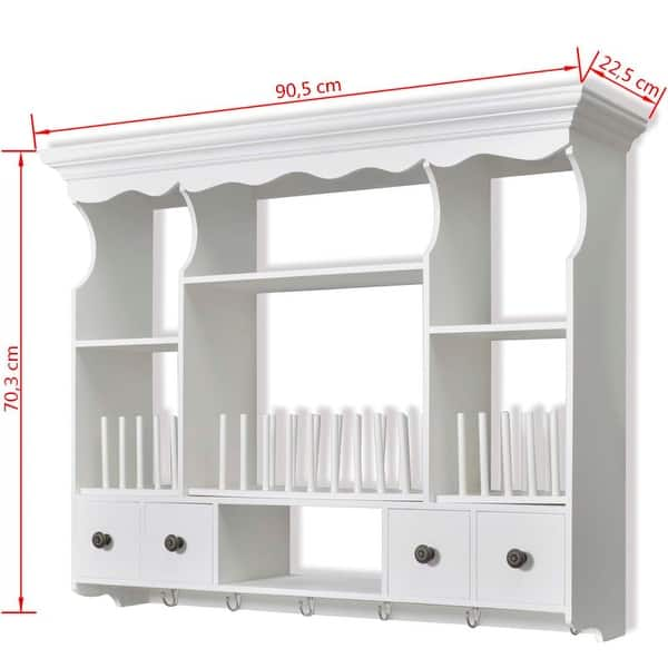 Vidaxl Wooden Kitchen Wall Cabinet White Overstock 19559386