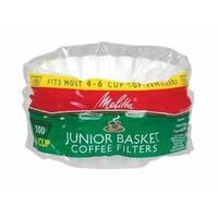 Melitta 62912 Junior Basket Coffee Filters, White, 100 Count