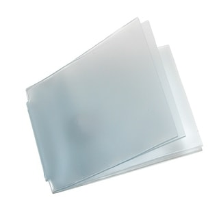 Buxton Vinyl Window Inserts for Billfold Wallets with Wing Bar (Pack of 2) - Clear - One Size