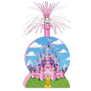 "Pack of 12 Metallic Pink and Purple Princess Foil Centerpiece 15"""