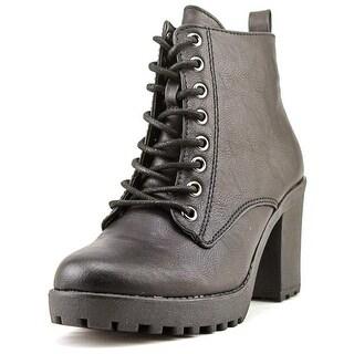 Mia Kat Women Round Toe Synthetic Black Ankle Boot