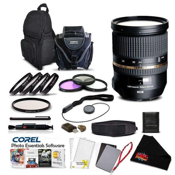 Tamron SP 24-70mm f/2.8 Di USD Lens for Sony Pro Accessory Kit - Black