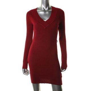 Planet Gold Womens Juniors Sweaterdress Ribbed Tunic