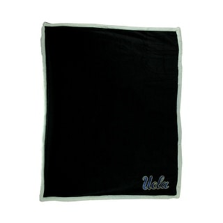 UCLA Bruins Super Soft Sherpa Style Throw Blanket Black 0 25 X 60 X 50 Inches