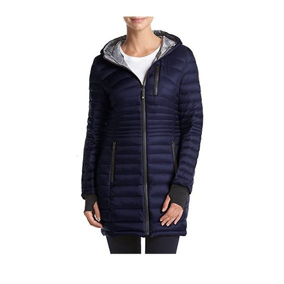 8beef078f55 Shop HFX Halifax Navy Down Hooded Packable Petites - Free Shipping Today -  Overstock - 18900761