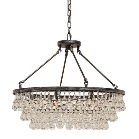 Celeste Glass Drop Crystal Chandelier, Small
