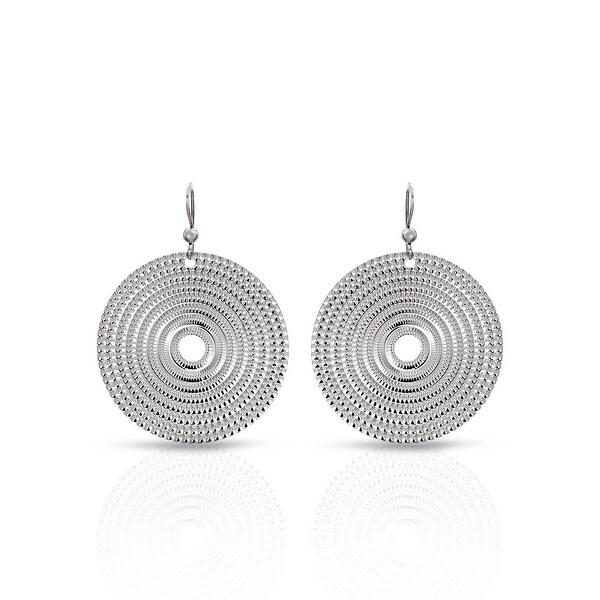 Mcs Jewelry Inc STERLING SILVER 925 DISK EARRINGS (49MM)