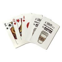 Coffee Cup Yawn Silent is Scream Coffee LP Artwork (Poker Playing Cards Deck)
