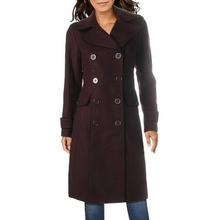 Link to Kenneth Cole New York Womens Trench Coat Wool Blend Dressy Similar Items in Women's Outerwear