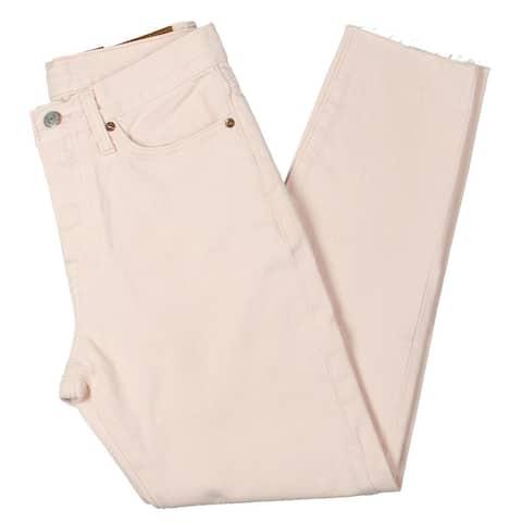 Levi Strauss & Co. Womens Straight Leg Jeans Denim Released Hem - Pink