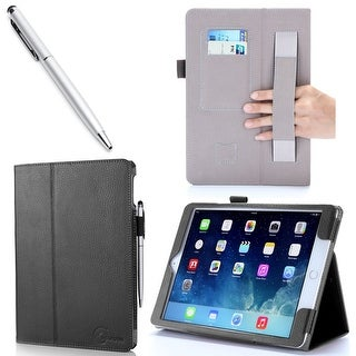 Apple iPad Air 2 Case, i-Blason, Slim Leather Book Cover Case - Black