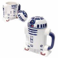 Star Wars 20oz Ceramic Figural Mug with Lid: R2-D2 - Multi