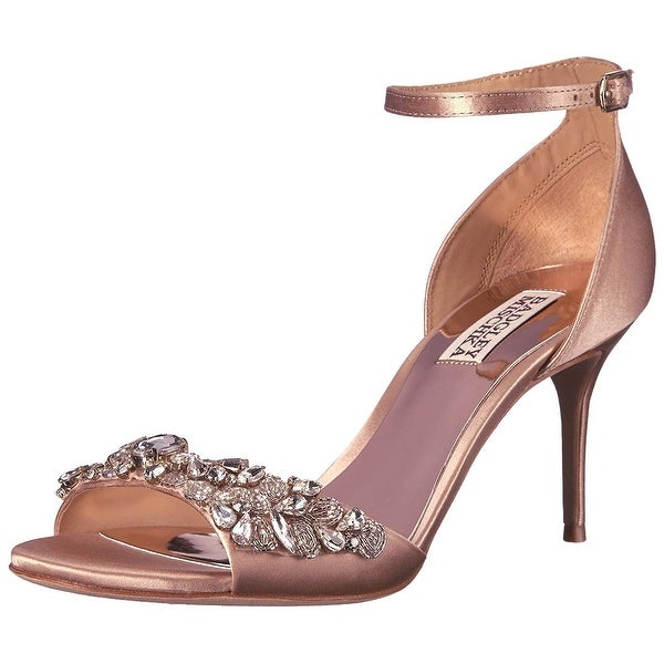 09901592bfd BADGLEY MISCHKA Womens Bankston Open Toe Special Occasion Ankle Strap  Sandals