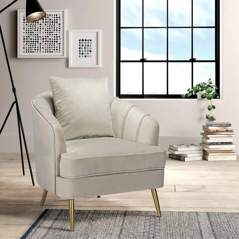 Furniture R Mid-Century Modern Barrel Accent Chair
