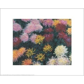 ''Chrysanthemum, 1897'' by Claude Monet Floral Art Print (16 x 20 in.)
