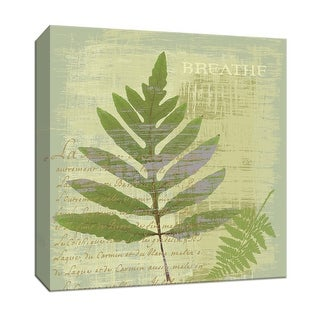 "PTM Images 9-152321  PTM Canvas Collection 12"" x 12"" - ""Breathe"" Giclee Leaves Art Print on Canvas"
