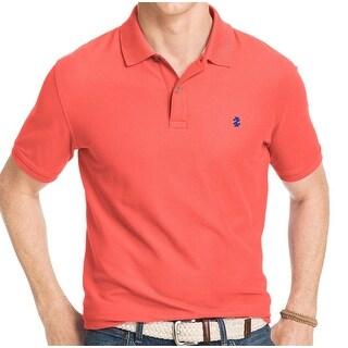 IZOD NEW Pink Tea Rose Mens Size Medium M Advantage Pique Polo Shirt