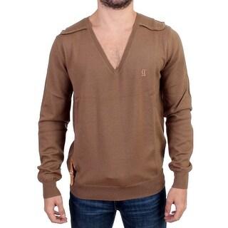 Galliano Beige knitted wool sweater