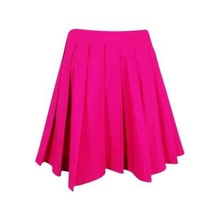 MICHAEL Michael Kors Women's Pleated Miniskirt - Geranium