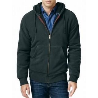 Weatherproof NEW Green Men Size Large L Faux Sherpa Lined Fleece Jacket